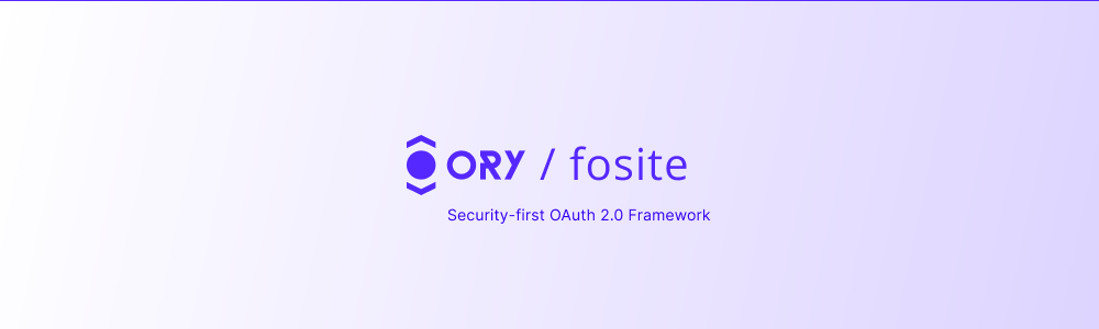 ORY Fosite - Security-first OAuth2 framework