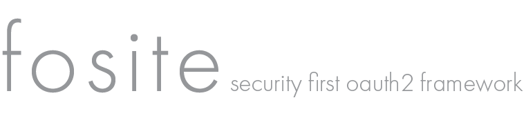 Fosite security first OAuth2 framework
