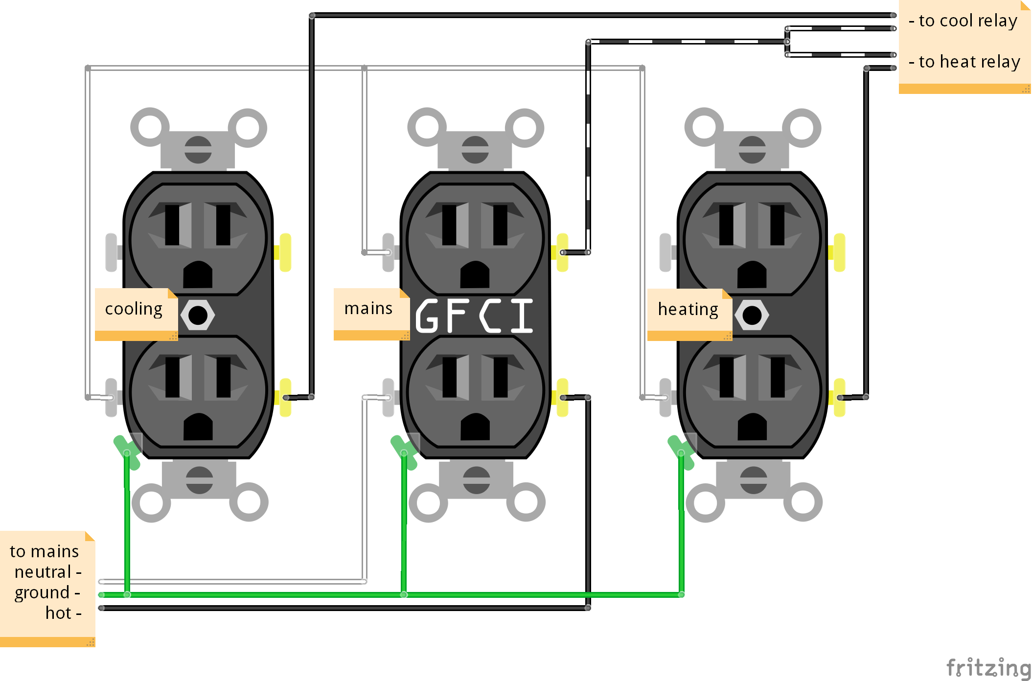 Fritzing simple power outlet circuitry - - Forums