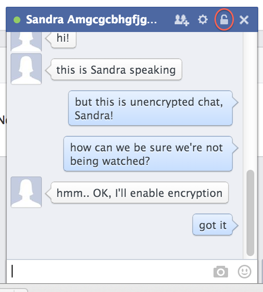 Unencrypted chat