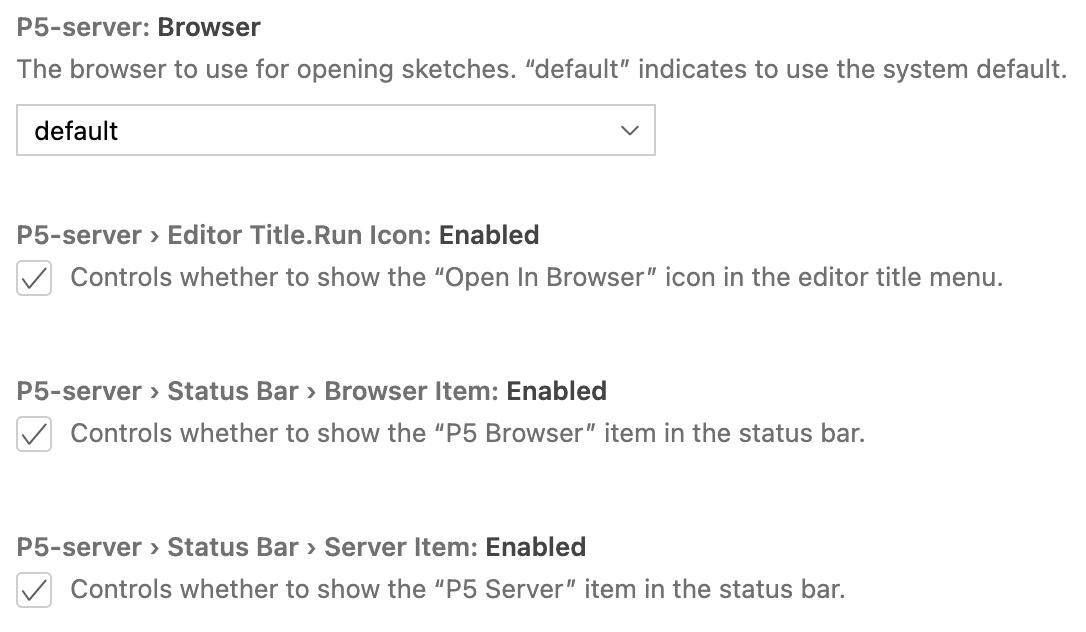 configuration screenshot