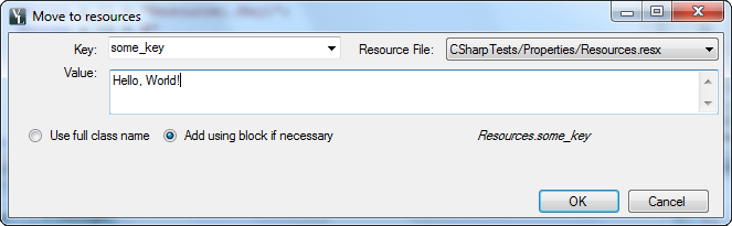 move to resources dialog