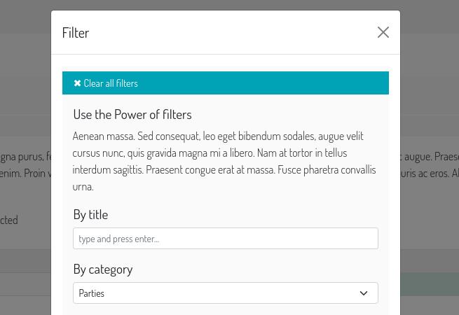 Baton changelist filters includes