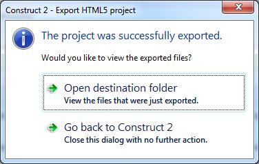destination folder