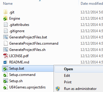 Generate project files