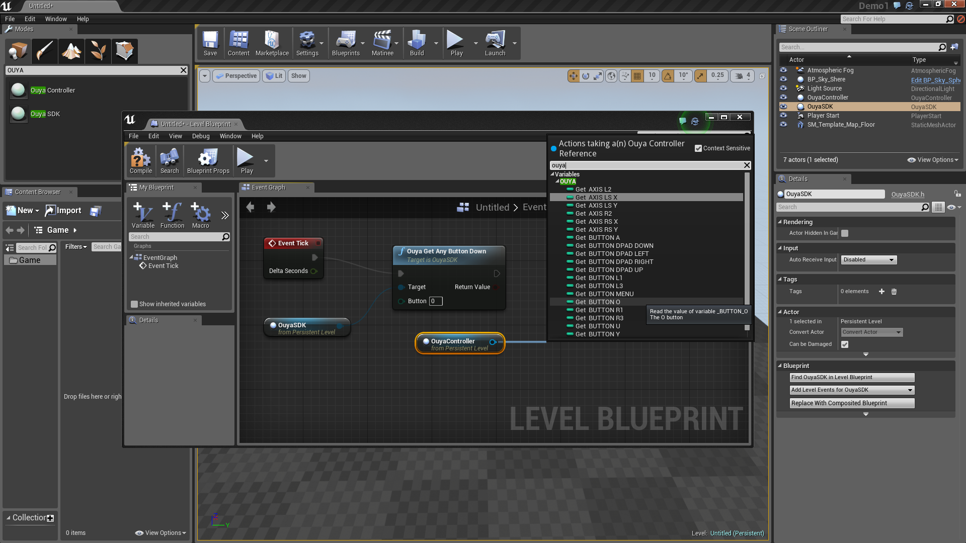 Docs razer developers right click on the event graph while the ouyasdk object in the scene outliner is selected to add ouya clear button states to the level blueprint malvernweather Gallery