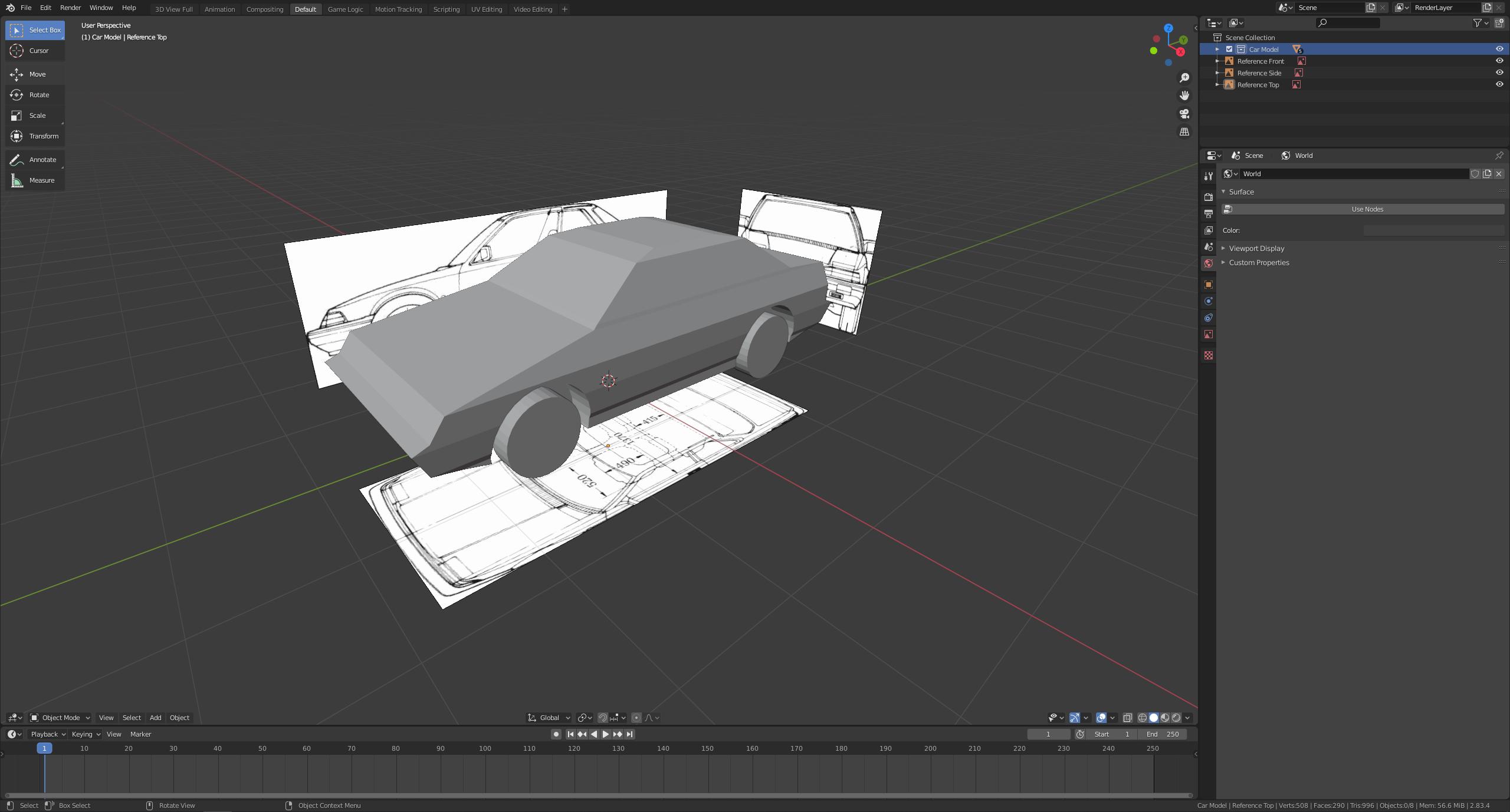 Blender Low Poly Modelling Screenshot