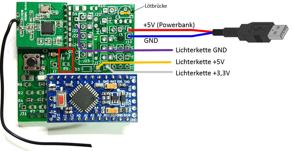 Batterie-Lichterkette PB