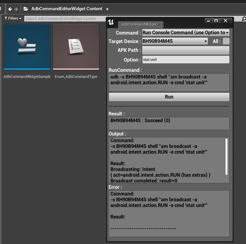 PLUGIN] AdbCommandWidget (Editor Utility Widgets) - Unreal Engine Forums