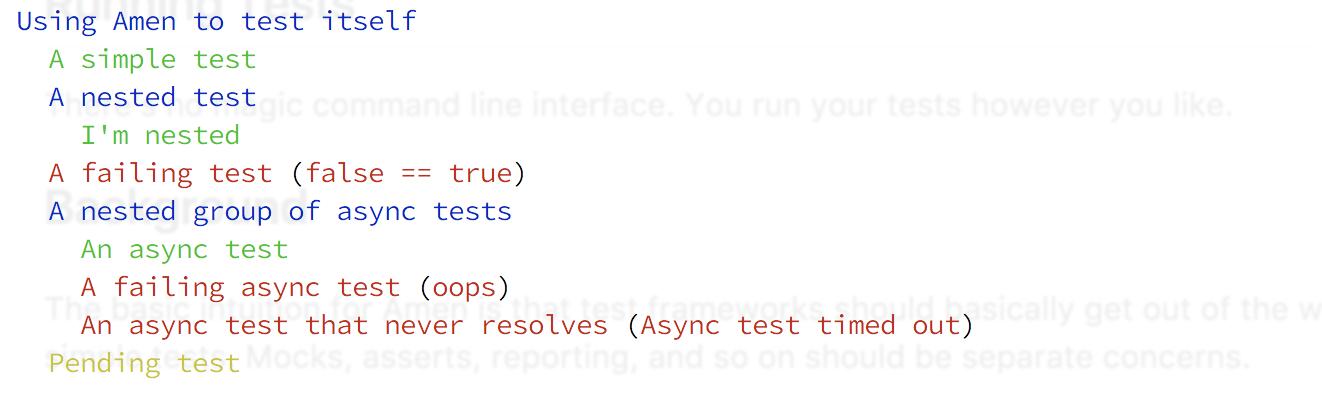 Screen shot of output.