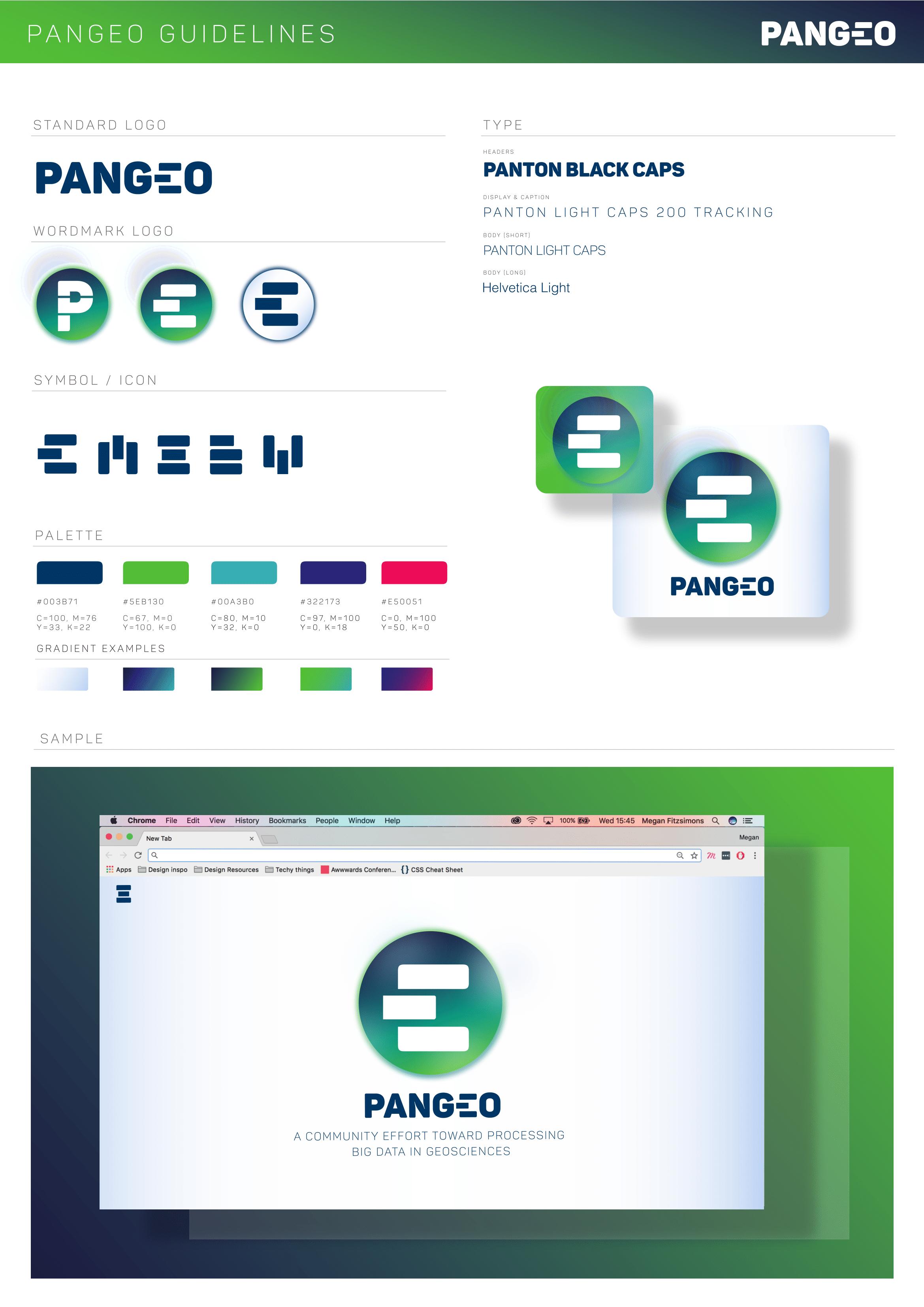 Pangeo Brand Sheet