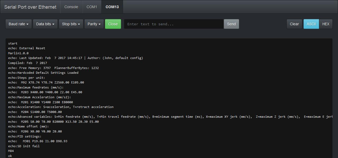 Web Interface Screenshot