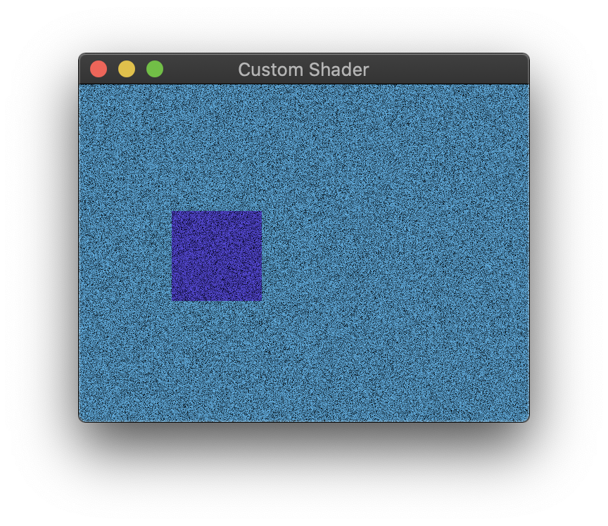 Custom noise shader