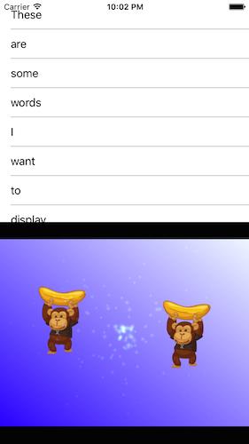 Split screen between Xamarin.Forms ListView and a CocosSharpView (iOS)