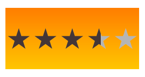 Star rating on a custom background