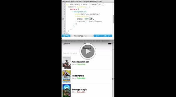 React native development experience demo