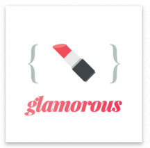glamorous Square Sticker