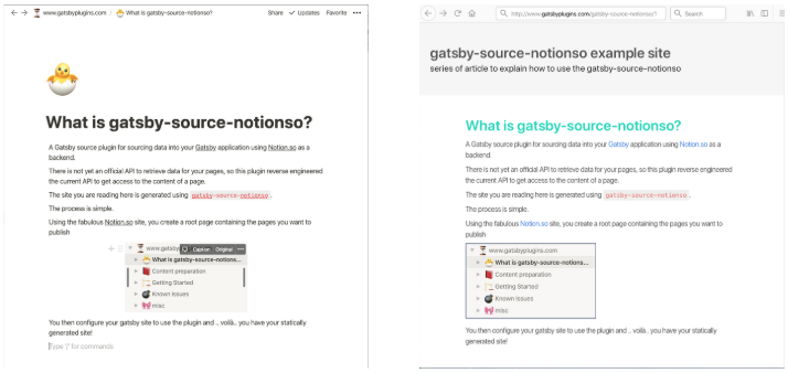 notion.so web side by side