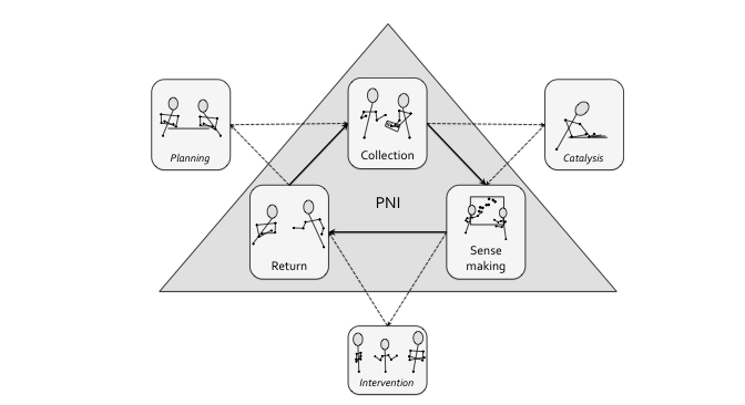 Diagram of the six phases of PNI
