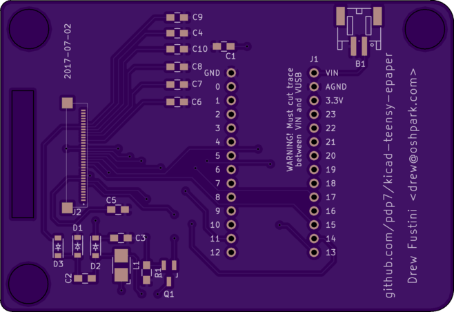 Preview of PCB top side