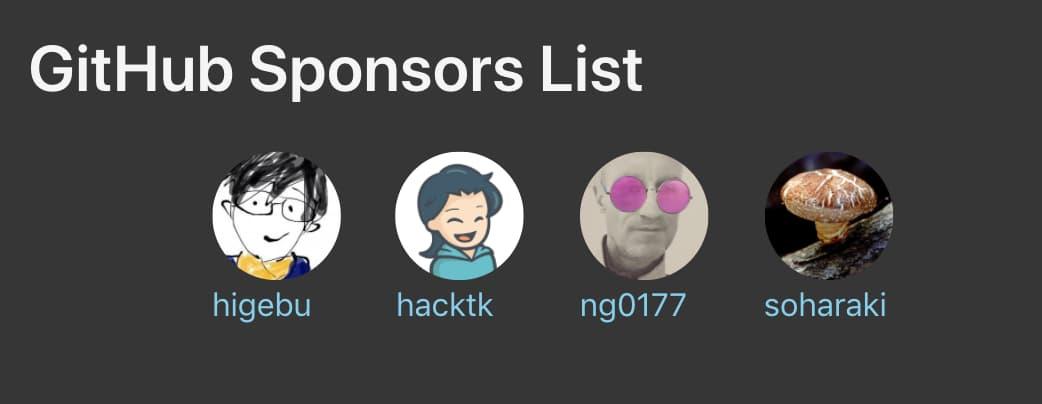 Shortcode github-sponsors-list