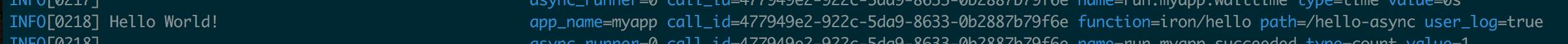 async log