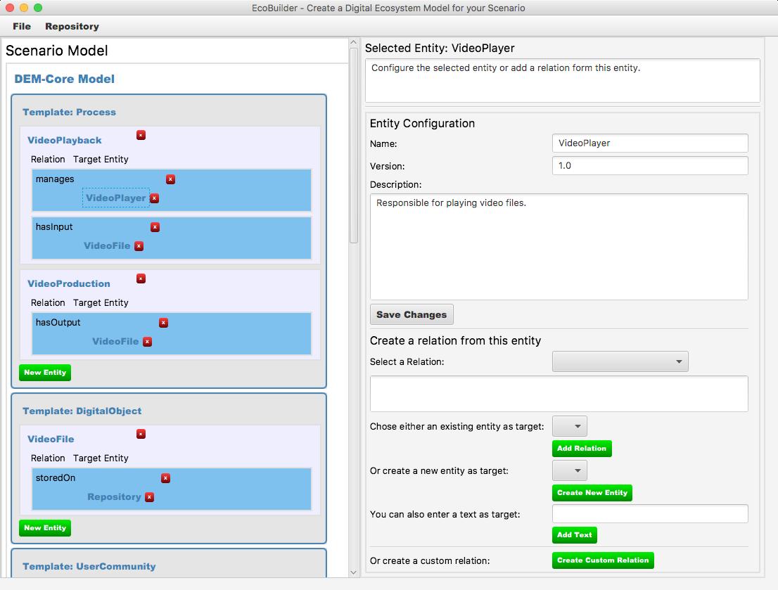 EcoBuilder Screenshot