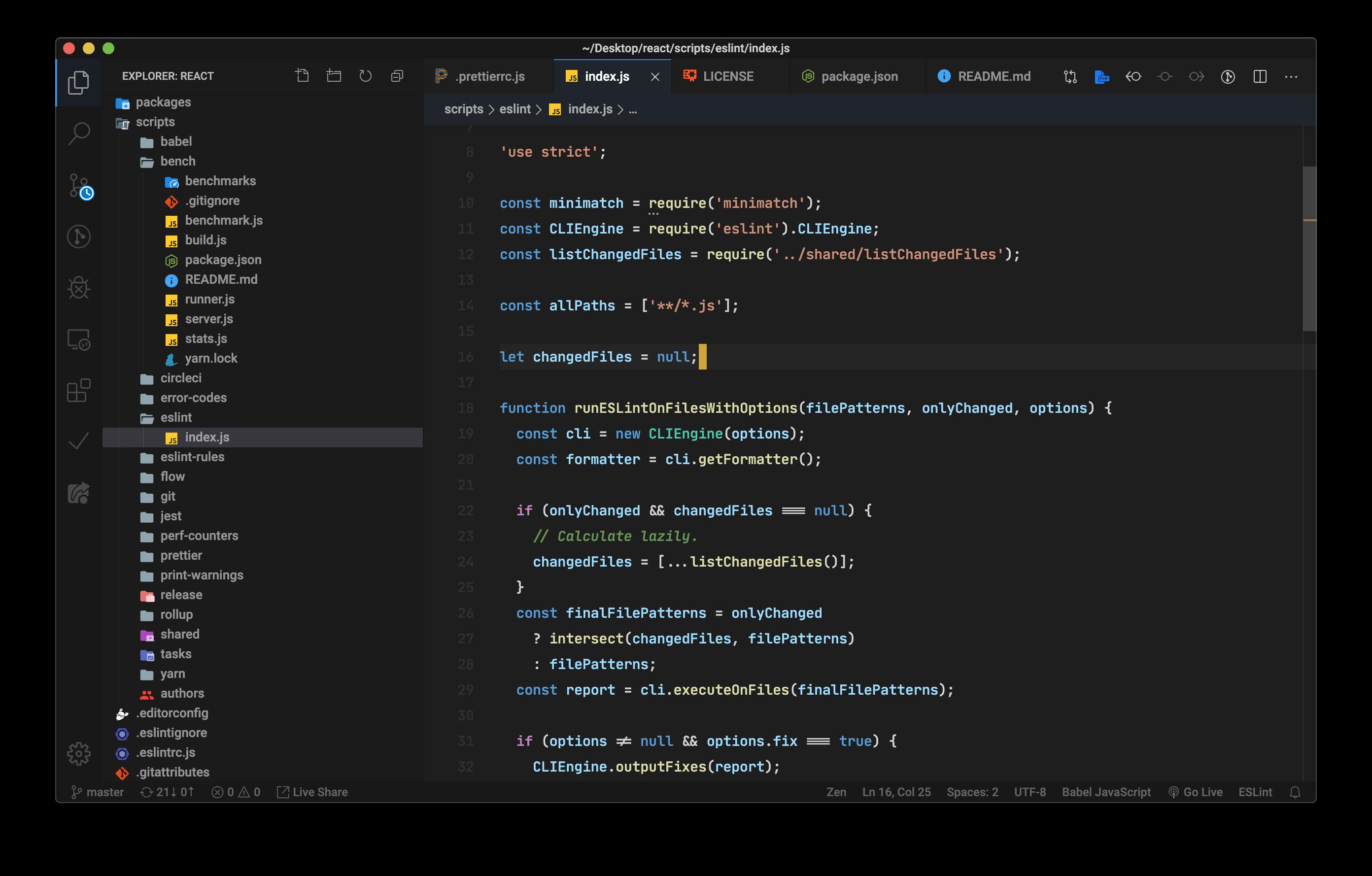 Dark+ Tweaked – Syntax highlight: Javascript