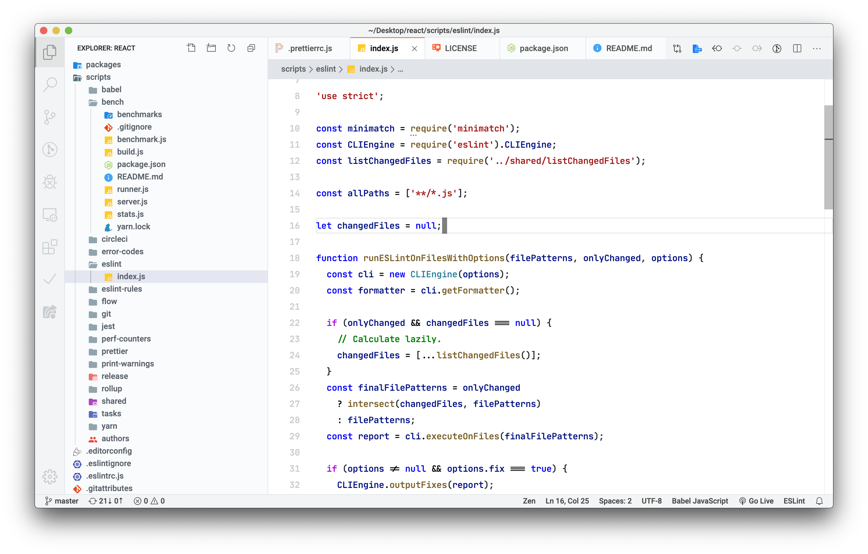 Light+ Tweaked – Syntax highlight: Javascript