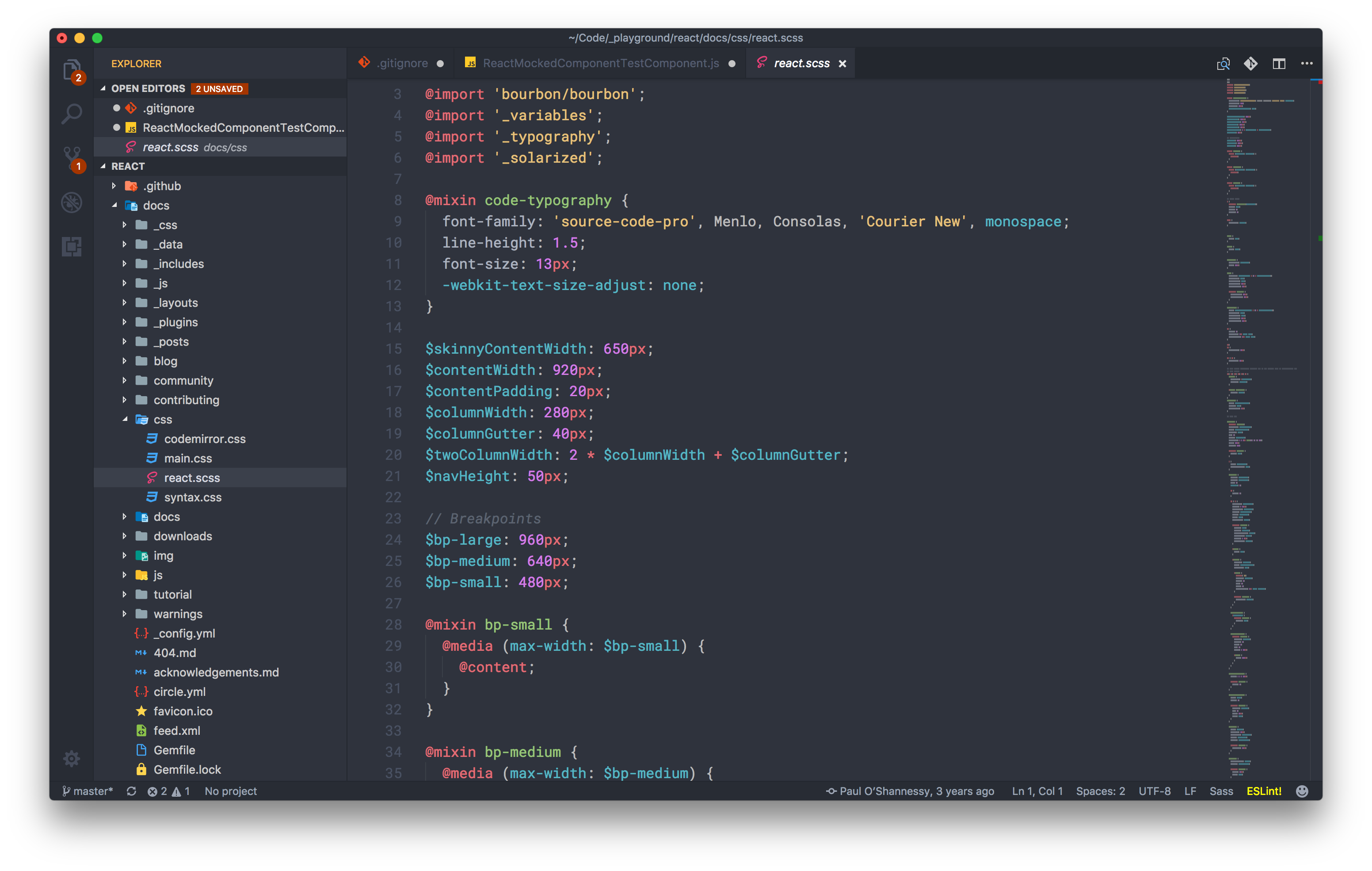 Syntax highlight: SCSS