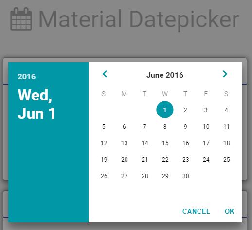 Material Design Calendar Github : Github petalyaa material datepicker javascript