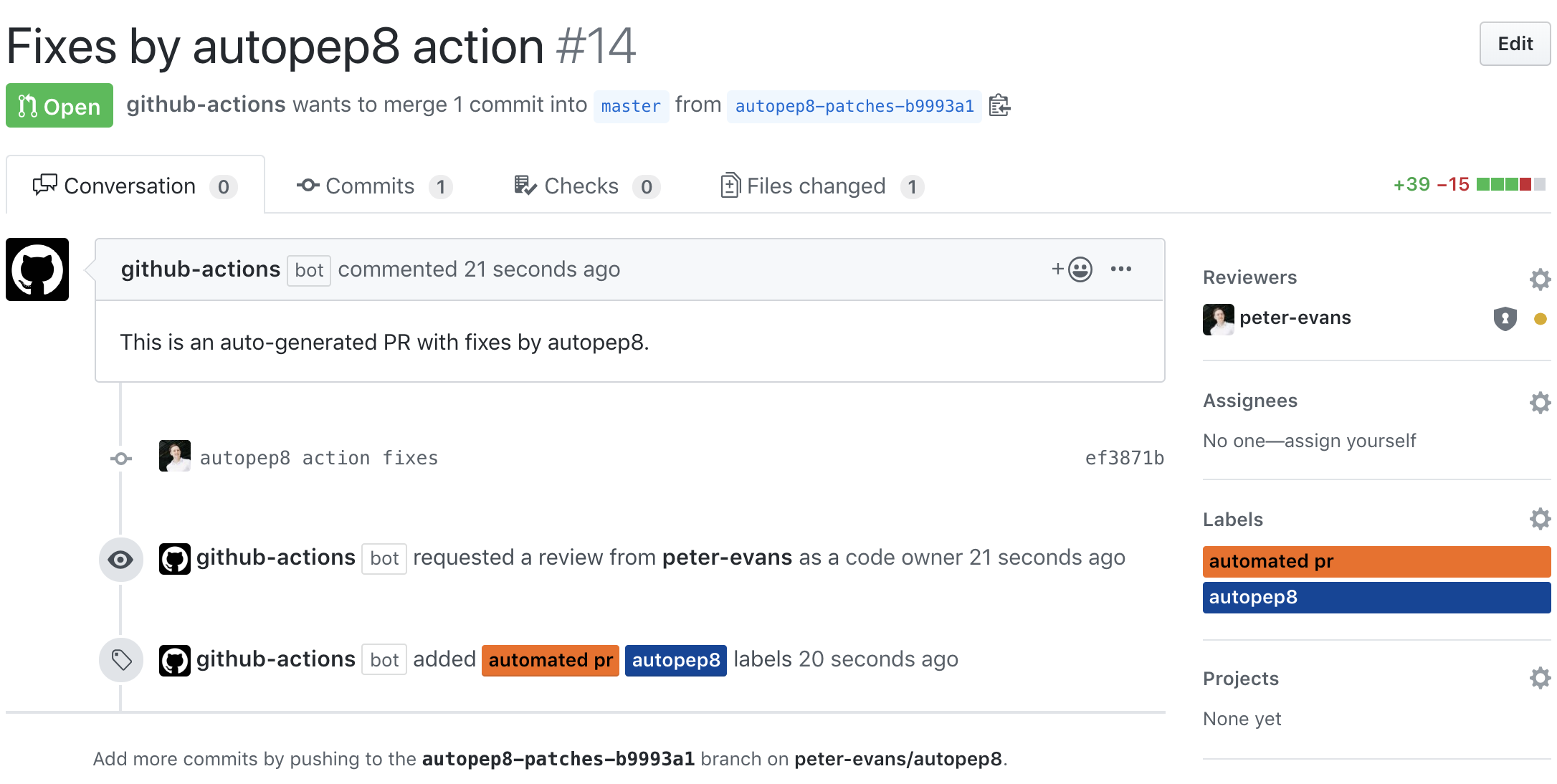 Pull Request Example