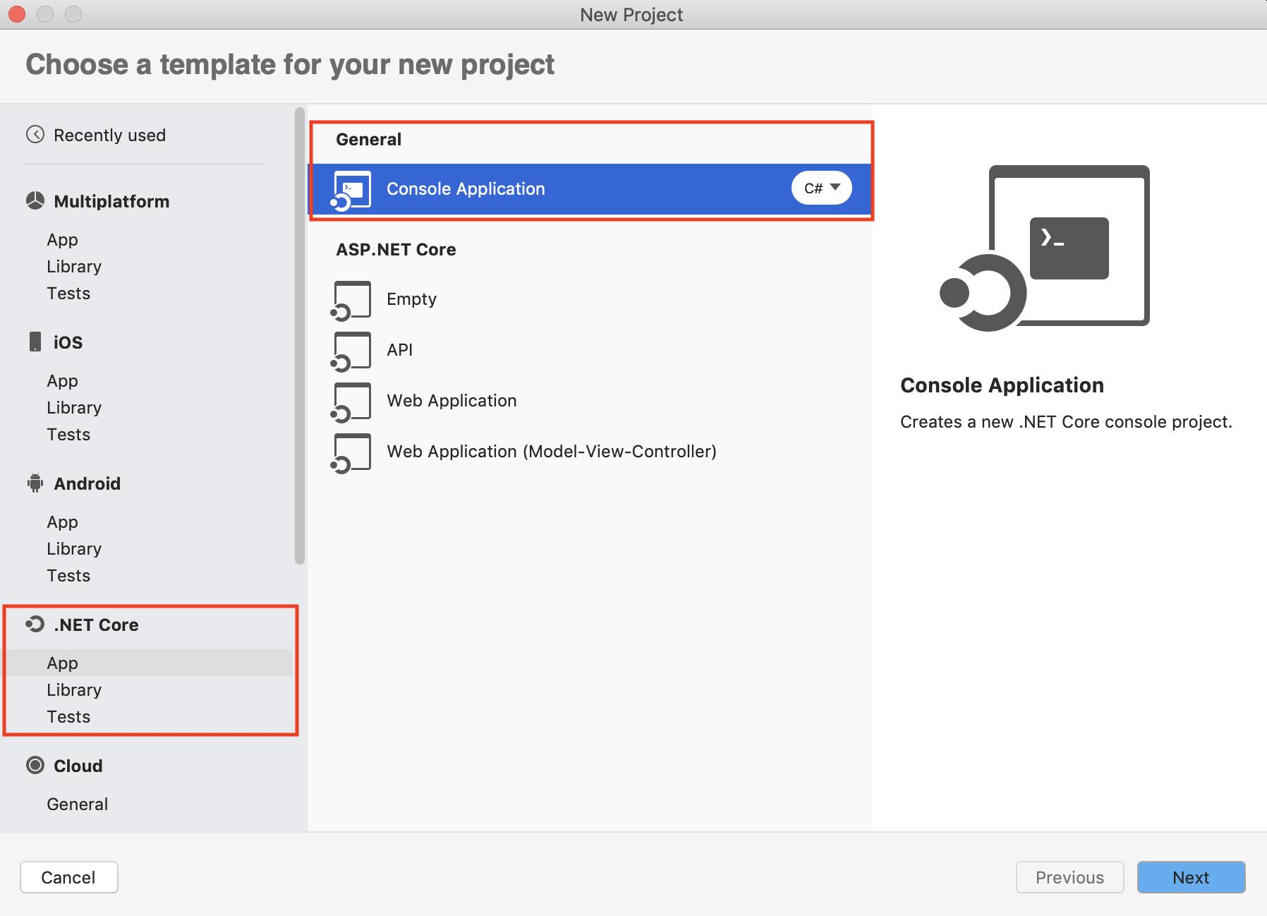 Create a 'Hello World' console app with Visual Studio