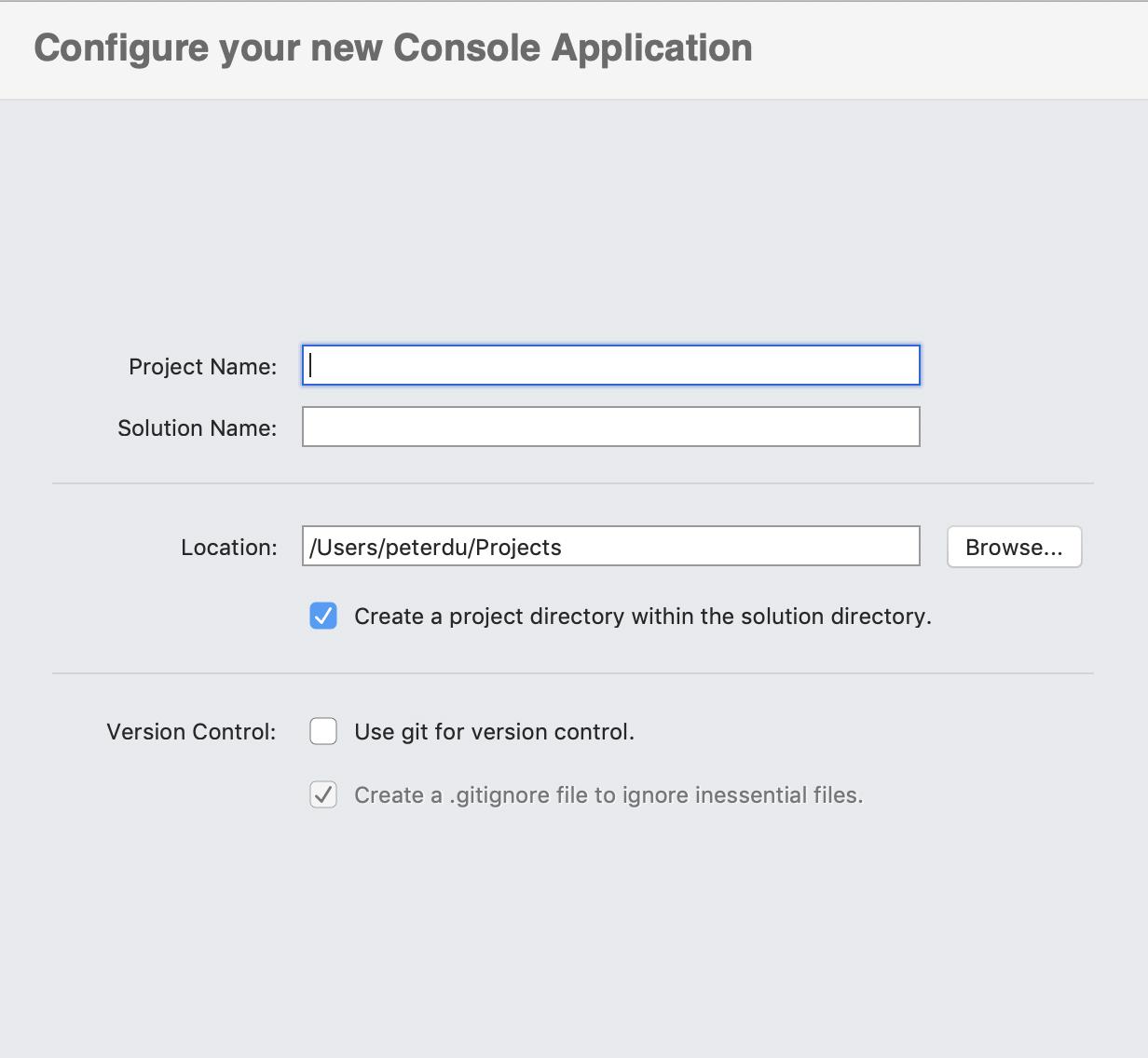 Configure a 'Hello World' console app with Visual Studio