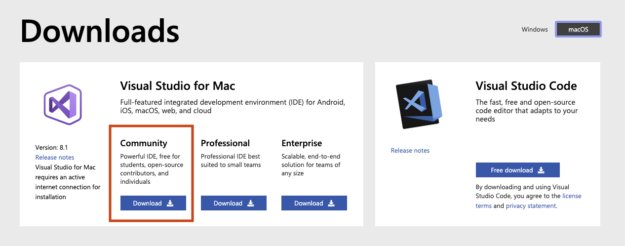 Visual Studio - IDE for C#