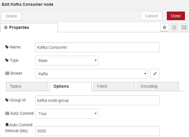 Kafka Consumer Options