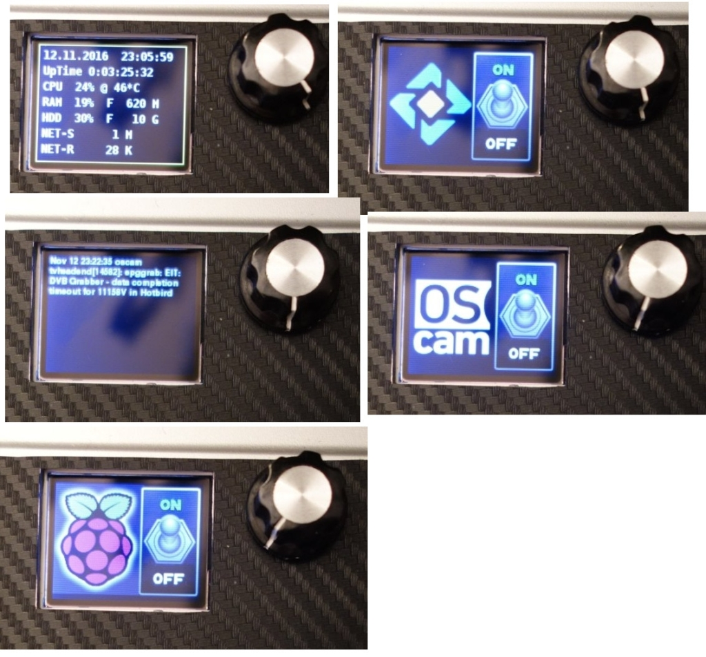 Control RPI with rotary encoder, lcd and/or web user gui