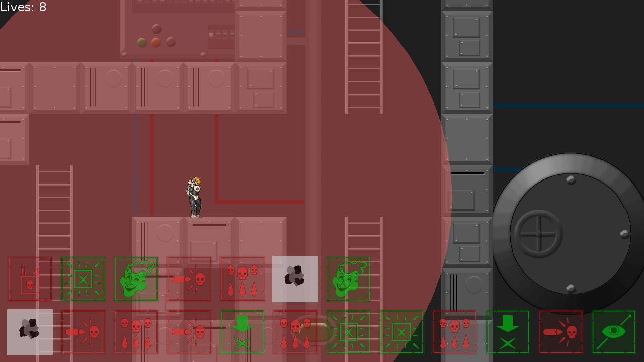 Screenshot of spaceship player