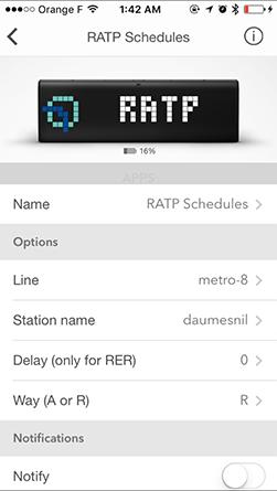 LaMetric Ratp App