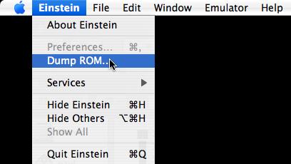 Dump ROM Menu Item