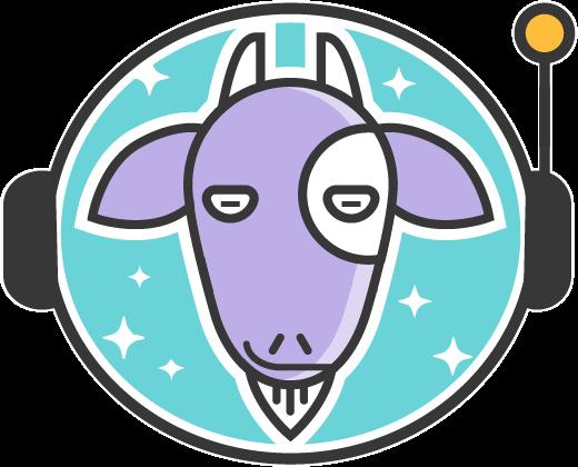 Particle mascot: Astrogoat