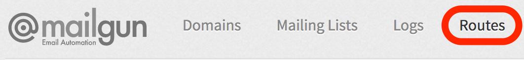 Mailgun Routes Tab Screenshot