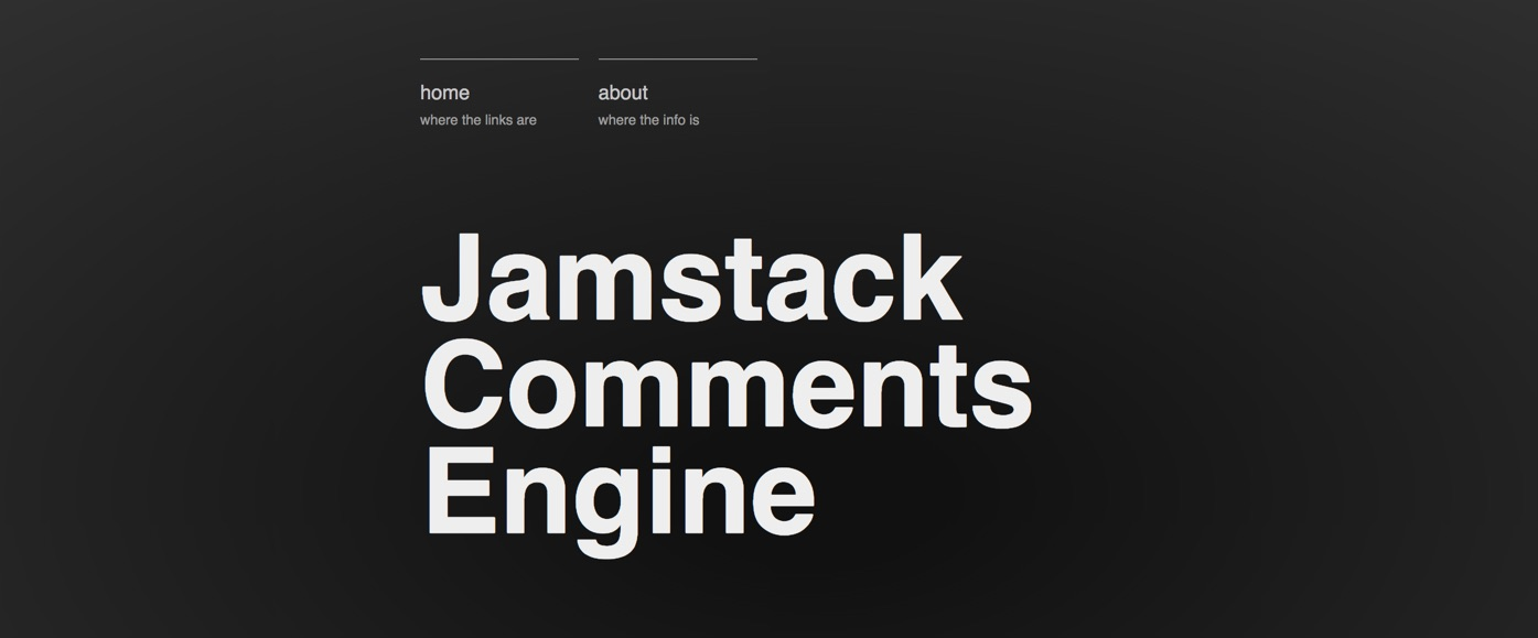 JAMstack Comments Engine screengrab