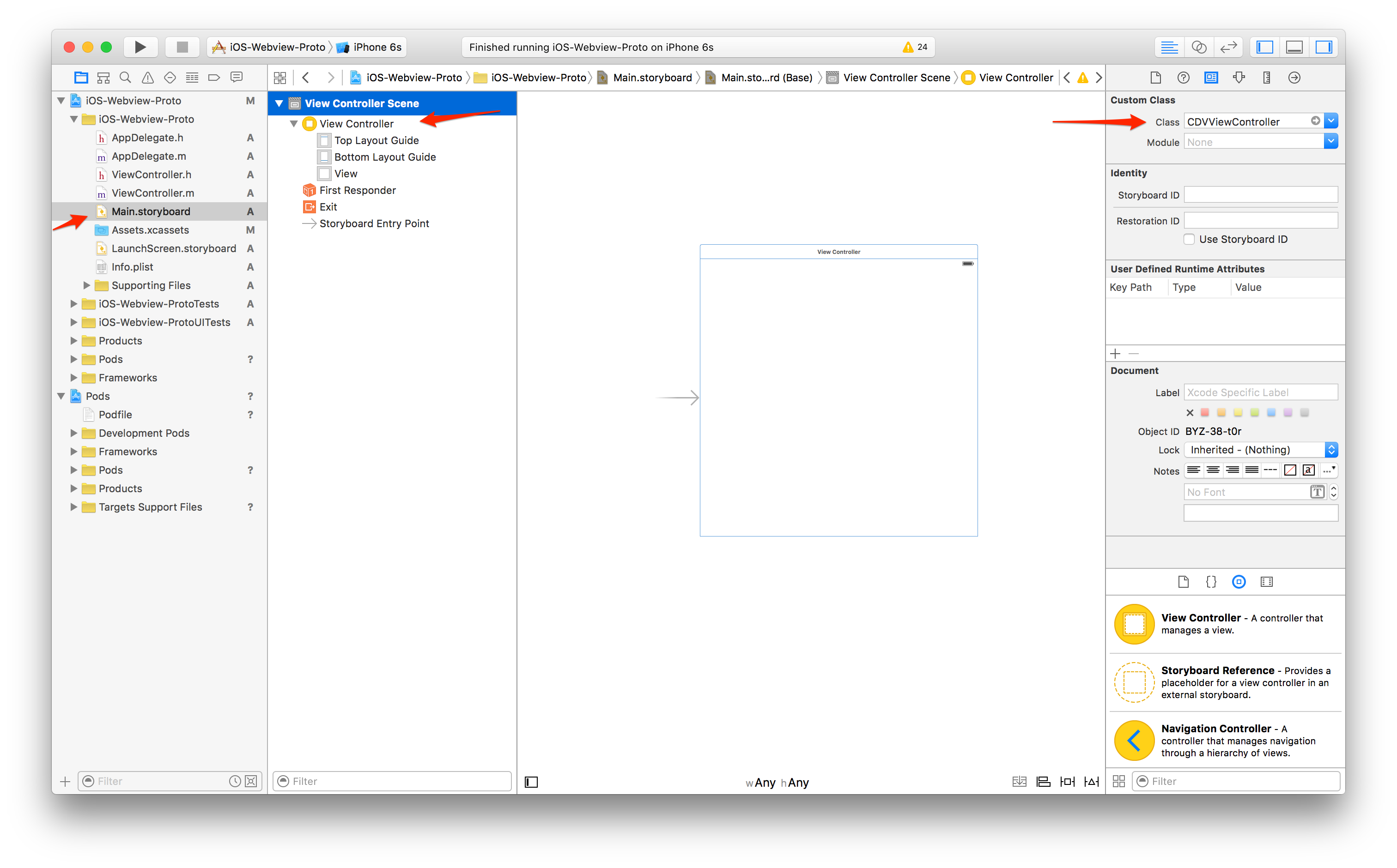 Create Single View Project
