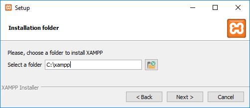 XAMPP installation folder