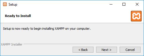 XAMPP Ready to install