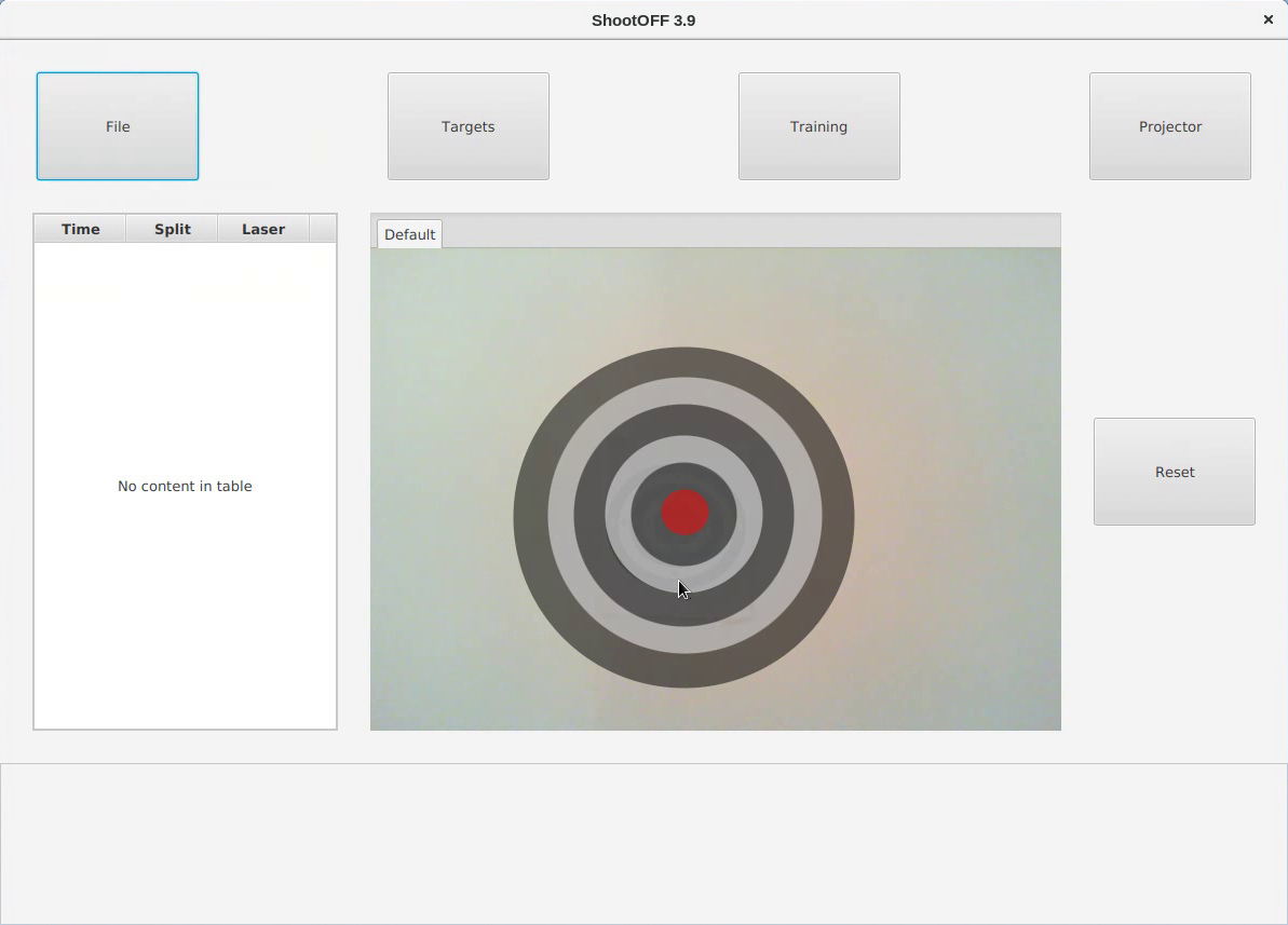 A target added to the webcam feed after clicking it under the Add Target menu.