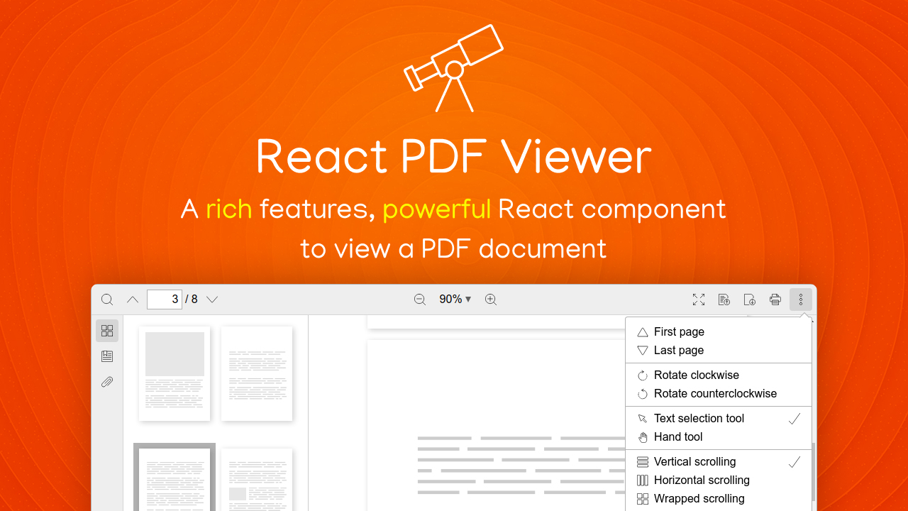 React PDF viewer
