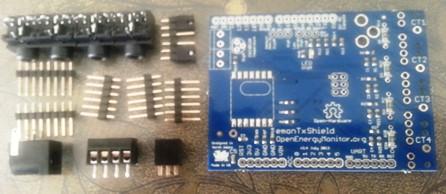 emonTx Arduino shield in kit form