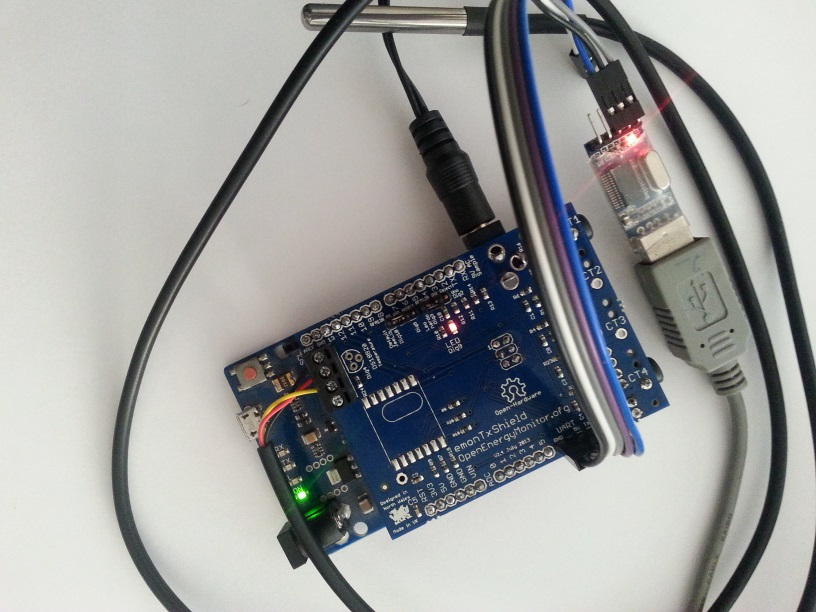 emonTx shield with USB2TTL